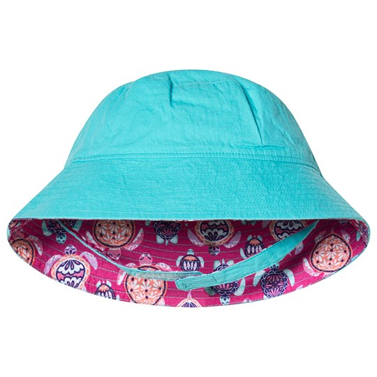 Hatley Pretty Sea Turtles Reversible Sun Hat Pink and Blue PINK TURTLES