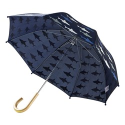 Hatley Shark Frenzy Umbrella Navy