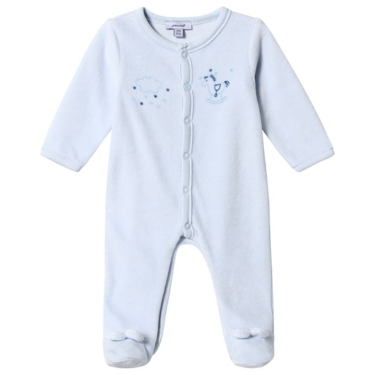Absorba Rocking Horse Print Velour One-Piece Pale Blue 41