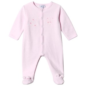 Image of Absorba Mouse Print Velour One-Piece Pink 12 months (3125347857)