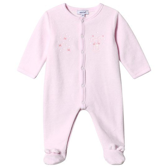 Absorba Mouse Print Velour One-Piece Pink 30