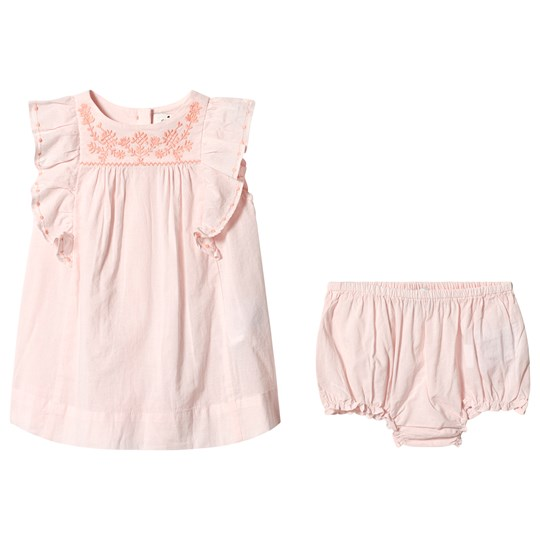 Cyrillus Pale Pink Smock Dress with Bloomers Pink