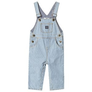 Image of Cyrillus Blue and White Stripe Dungarees 12 months (3125354125)