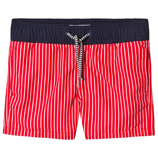 Cyrillus Red Stripe Swim Shorts Red/White