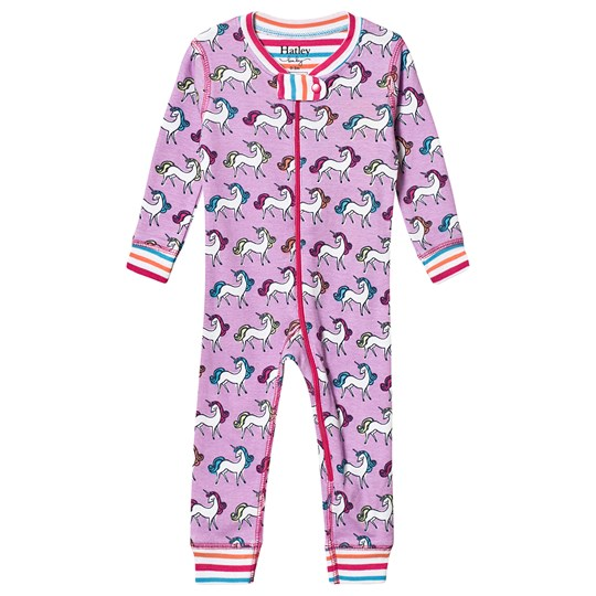 Hatley Purple Rainbow Unicorns One-Piece PURPLE UNICORNS