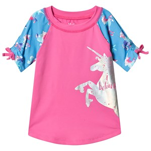 Image of Hatley Pink Rainbow Unicorns Rashguard 2 years (3125248345)