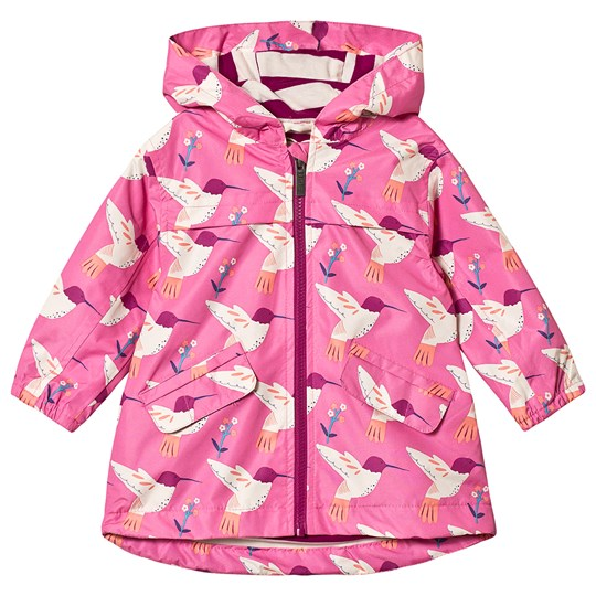 Hatley Pink Graceful Hummingbird Rain Jacket PINK HUMMINGBIRD