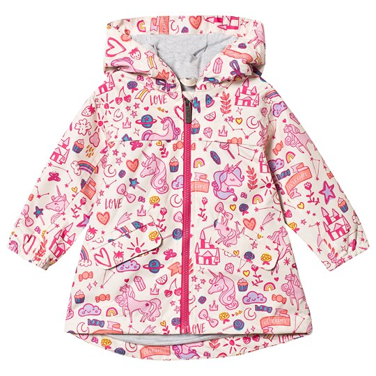 Hatley Cream Unicorn Doodles Rain Jacket UNICORN DOODLES