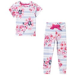 Tom Joule Stripe Floral Pajamas Blue/Pink
