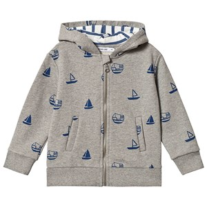 Image of One We Like Boats Hoodie Grey Melange 110/116 cm (3125322321)