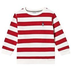 One We Like Stripe Milkshakes Collegegenser Red