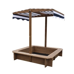 Image of Oliver & Kids Sandbox With Canopy 117*117*117 cm Brown/Navy Blue (3125328069)