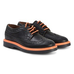 Paul Smith Junior Brogues Shoes Black and Orange