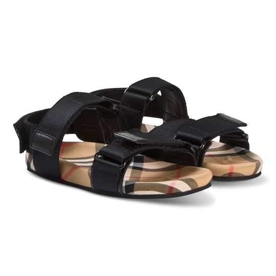 Burberry Ripstop Vintage Check Sandals Sort A1189