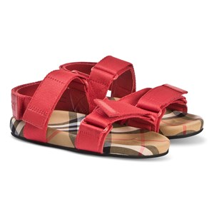 Image of Burberry Ripstop Vintage Check Sandals Red 32 (UK 13) (3125340457)