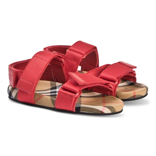 Burberry Ripstop Vintage Check Sandals Rød A1460