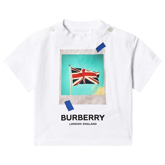 Burberry White Union Jack Baby Tee A1464