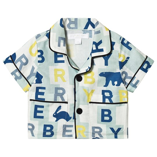 Burberry Pale Mint Logo Print Shirt A4360