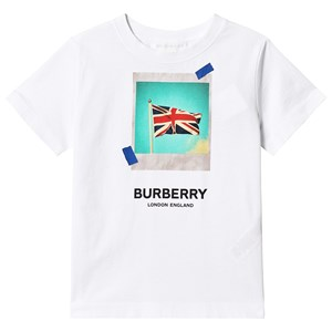 Image of Burberry White Union Jack Tee 4 years (3125339129)