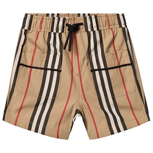 Image of Burberry Archive Beige Icon Stripe Poplin Shorts 12 months (3125348707)