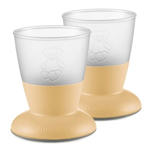 Image of Babybjörn 2-Pack Baby Cup Powder Yellow One Size (1335195)