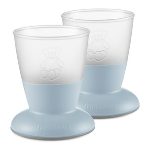 Image of Babybjörn 2-Pack Baby Cup Powder Blue One Size (1335196)