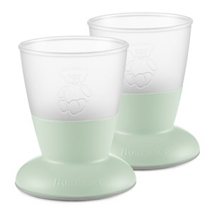 Image of Babybjörn 2-Pack Baby Cup Powder Green One Size (1335193)