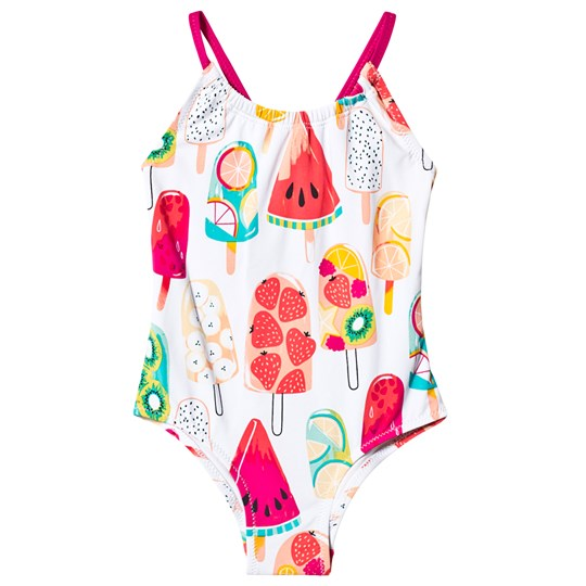 Hatley Fruity Popsicles Swimsuit White FRUITY POPSICLES