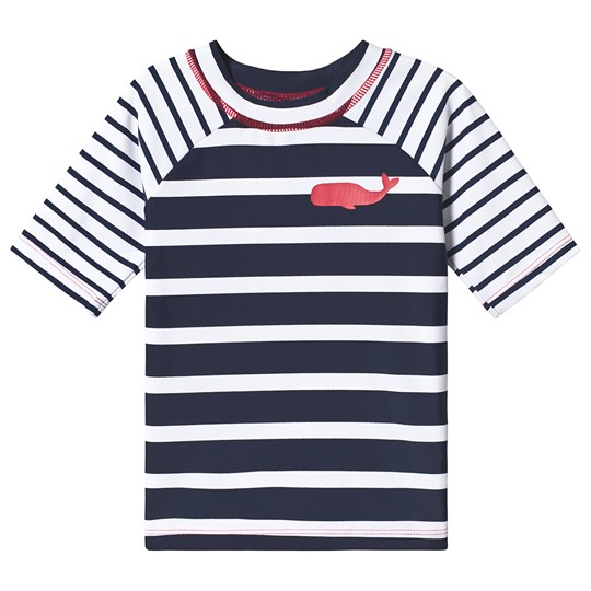 Hatley Navy and White Nautical Stripes Rashguard NAVY STRIPES WHALE