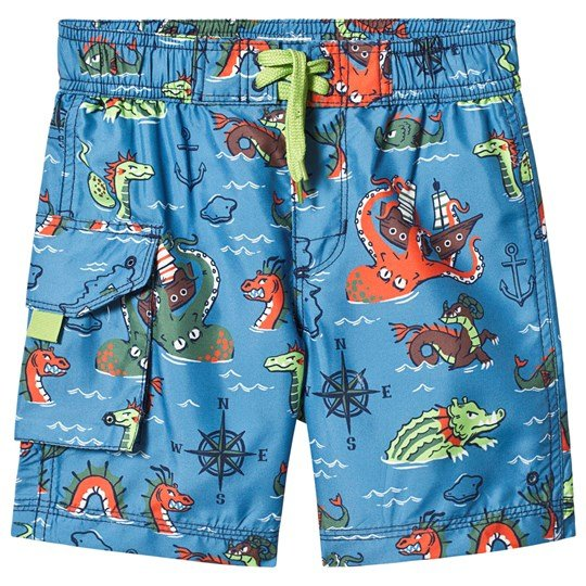 Hatley Blue Sea Monsters Swim Trunks BLUE SEA MONSTERS