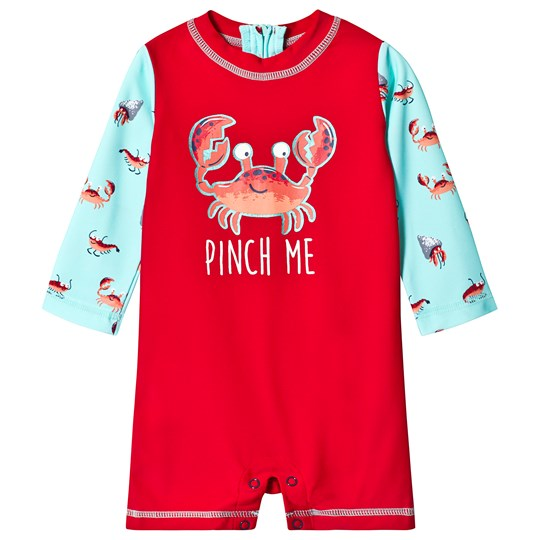 Hatley Red Crustaceans Rashguard One-Piece RED CRUSTACEANS