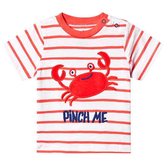 Hatley White and Orange Silly Crustacean Tee ORANGE CRUSTACEAN