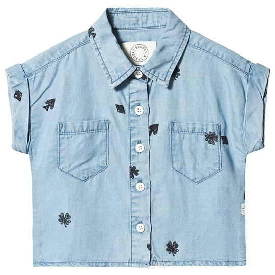 Sproet & Sprout Playing Cards Shirt Light Blue 041