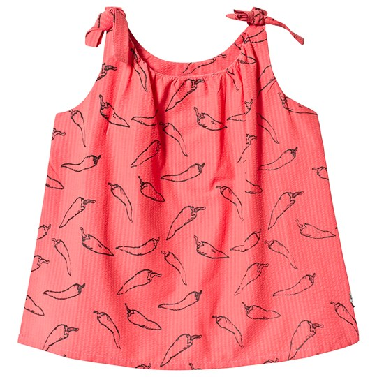 Sproet & Sprout Pepper Print Woven Top Red 063