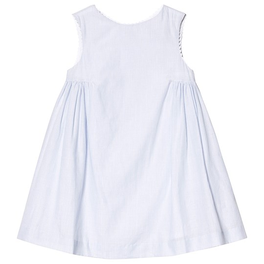 Cyrillus Blue and White Stripe Dress Striped