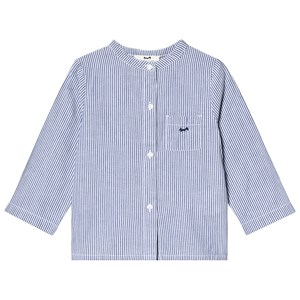 Image of Cyrillus Blue and White Stripe Collarless Shirt 12 months (3125351545)