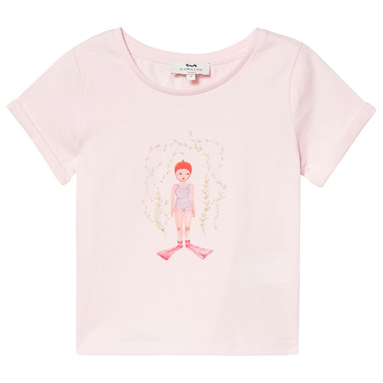Cyrillus Pale Pink Swimmer Print Tee Swimmer