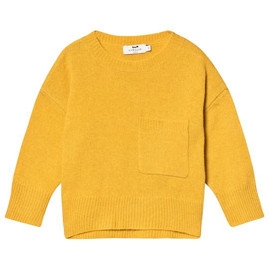 Cyrillus Yellow Merino Wool Jumper Yellow