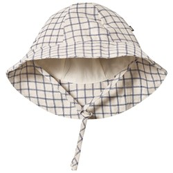 Oeuf Check Baby Hat Beige/Blue