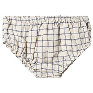 Image of Oeuf Check Ruffled Bloomers Beige/Blue 12 mdr (3125356699)