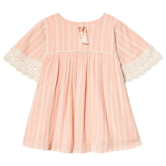 Louise Misha Sterlitzia Dress Blush Stripes Blush Stripes