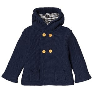 Image of Cyrillus Knit Hooded Jacket Navy 18 months (3125362033)