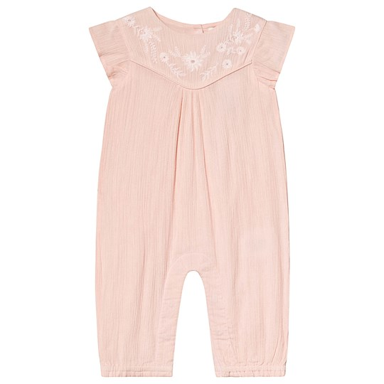 Cyrillus Embroidered Frill Jumpsuit Pale Pink PalePink