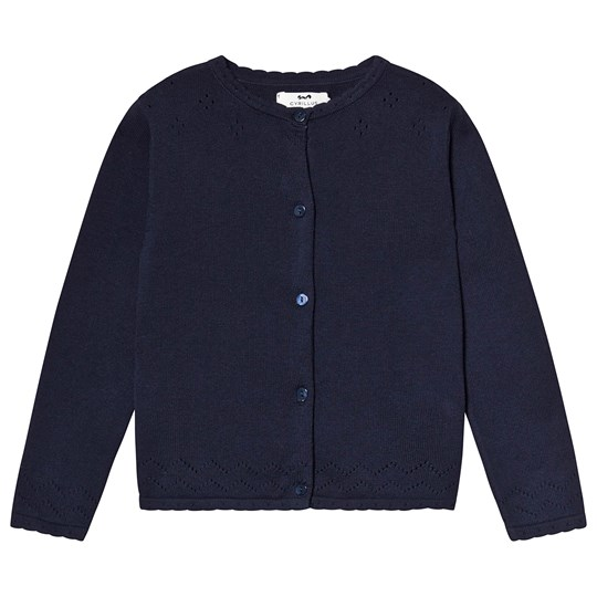 Cyrillus Navy Knit Cardigan Navy