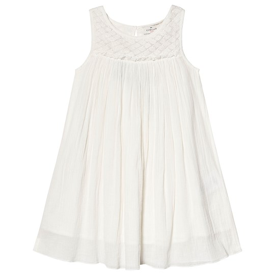 Cyrillus White Pleated Dress White