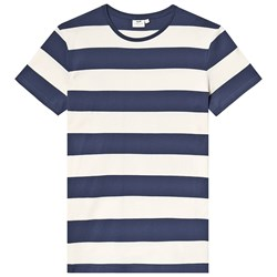 Cyrillus Navy and Grey Stripe Tee