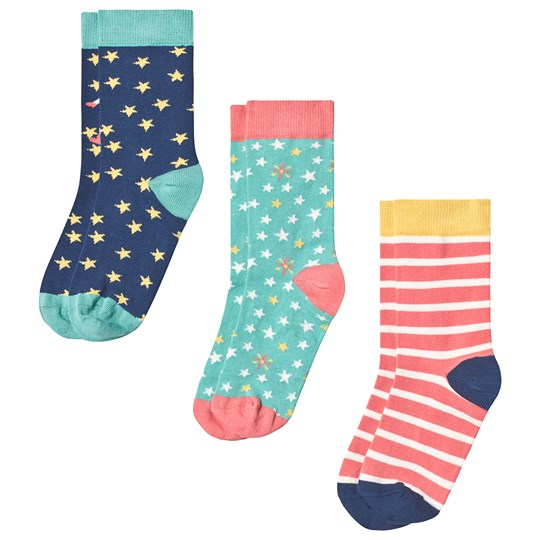 Frugi Susie 3-Pack Socks Multi Space Multipack