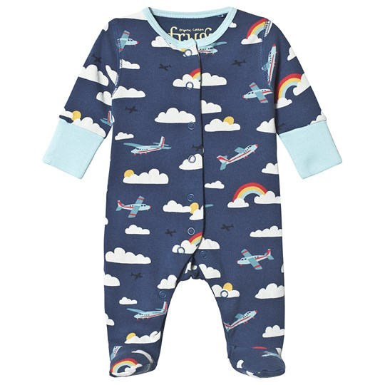 Frugi Lovely One-Piece Navy Marine Blue Scilly Skybus