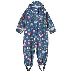 Frugi Puddle Buster Rain Coverall Navy