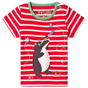 Image of Frugi Atlantic Applique Tee in Red 12-18 months (3125288267)